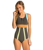 Billabong Women's 1MM Shorty Jane Front Zip Spring Suit Wetsuit