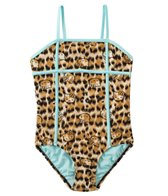 Hello Kitty Girls' Tropical Fun Leopard One Piece (7yrs-14yrs)