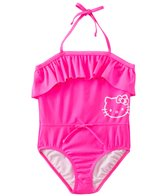 Hello Kitty Girls' Playful Pink Ruffle One Piece (7yrs-14yrs)