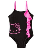 Hello Kitty Girls' Forever Pink Ruffle One Piece (2T-4T)