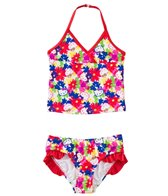 Hello Kitty Girls' Poppy Petals Tankini Two Piece Set (2T-4T)