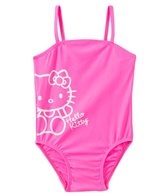 Hello Kitty Girls' Pink Solid Logo One Piece (2T-4T)