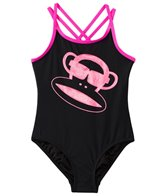 Paul Frank Girls' Pink Julius & Dots Glitter Monkey One Piece (4yrs-6X)