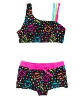 Paul Frank Girls' Neon Julius Boy Short Two Piece Set (2T-4T)