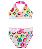 Paul Frank Girls' Julius Circles Halter Bikini Two Piece (2T-4T)