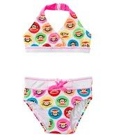 Paul Frank Girls' Julius Circles Halter Bikini Two Piece (2T-4T)