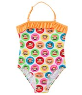 Paul Frank Girls' Julius Circles Ruffle One Piece (2T-4T)