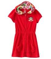 Paul Frank Girls' Solid S/S Hoodie Zipper Cover Up Dress (2T-4T)
