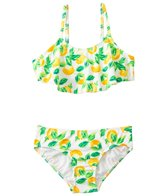 Kensie Girl Fresh Direct Lemon Flutter Bandeau Two Piece Set (7yrs-14yrs)