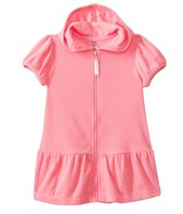 Kensie Girl Solid Coral Hoodie Cover Up (4yrs-6X)