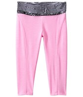 California Kisses Girls' Glam Rox Zebra Waist Crop Legging (7yrs-14yrs)