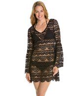 PilyQ Black Gold Riley Royal L/S Cover Up Tunic
