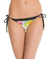 PilyQ Geo Mix Up Full Tie Side Bikini Bottom