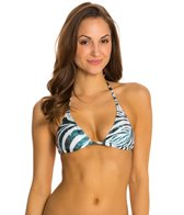 PilyQ Tanzania Elongated Tri Halter Bikini Top