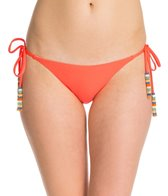 PilyQ Hibiscus Full Tie Side Bikini Bottom