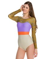 Seea Hermosa L/S Earth Waves Surf Suit