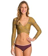 Seea Mundaka L/S Earth Waves Wrap Bikini Top