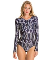 Vix Moorish Pamela Zip Front LS One Piece Swimsuit