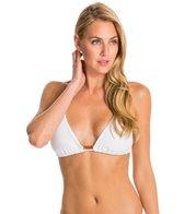 Vix Solid White Tri Embroidery Bikini Top (D-Cup)