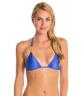Vix Solid Blue Undersea Tri Detail Bikini Top