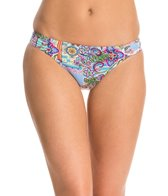 Profile Blush Avante Garden Shirred Side Tab Bikini Bottom
