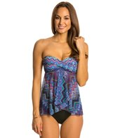 Profile by Gottex Sky Line Fly Away Bandeau Tankini