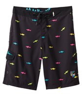 Maui and Sons Men's Straight Shark Boardshort