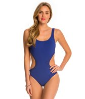 Profile by Gottex Waterfall Solid Cut Out One Piece Swimsuit