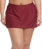 Sporti Plus Size Swim Skirted Bikini Bottom