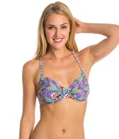 Profile Blush Swimwear Vintage Beauty Underwire Crossback Bikini Top (DEF Cup)