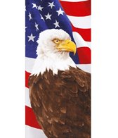dohler USA Eagle & Flag Beach Towel 34 x 64