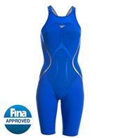 Speedo Women's LZR Racer X Open Back Kneeskin Tech Suit Swimsuit