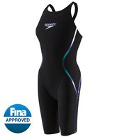Speedo Women's LZR Racer X Open Back Kneeskin Tech Suit Swimsuit