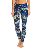 Zobha Cosmo Printed Legging with Mesh Panels