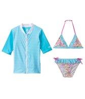 Platypus Australia Girls Rashguard/Bikini Set (3T-6yrs)
