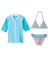Platypus Australia Girls Rashguard/Bikini Set (7yrs-8yrs)