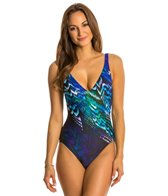 Gottex Poetic Wing V-Neck Tank One Piece Swimsuit