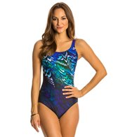 Gottex Poetic Wing High Scoop Neck Mastectomy One Piece Swimsuit