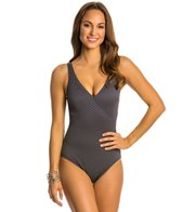 Gottex Diamond in the Rough Surplice One Piece Swimsuit