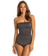 Gottex Diamond in the Rough Bandeau Draped One Piece Swimsuit