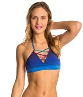 Roxy Shades Of Summer Lace Up Triangle Bikini Top