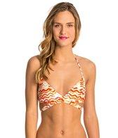 Roxy Sun Sand Salt Wrap Halter Bikini Top