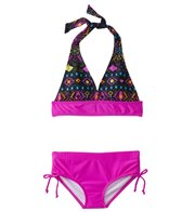 Sunshine Zone Girls' Aztec Halter Two Piece Set (7yrs-16yrs)