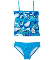 Sunshine Zone Girls' Paisley Tankini Two Piece Set (7yrs-16yrs)