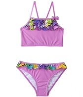 Sunshine Zone Girls' Rainbow Flower Flutter Two Piece Set (4yrs-6X)
