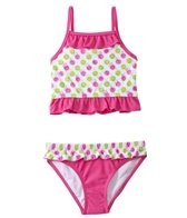 Sunshine Zone Girls' Spotty Dotty Ruffle Two Piece Set (4yrs-6X)