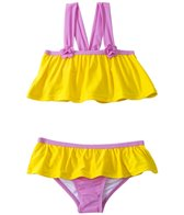 Sunshine Zone Girls' Solid Color Block Flutter Two Piece Set (4yrs-6X)