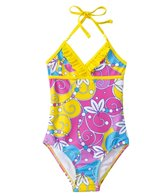 Sunshine Zone Girls' Flower Swirls Halter One Piece (2T-4T)