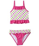 Sunshine Zone Girls' Spotty Dotty Ruffle Two Piece Set (2T-4T)