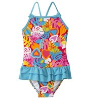 Sunshine Zone Girls' Tropical Love Ruffle One Piece (2T-4T)